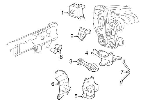 OEM 1997 Pontiac Sunfire Engine & Trans Mounting Parts