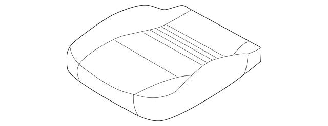 2001-2004 Porsche Boxster Seat Cover 986-521-161-07-ESD