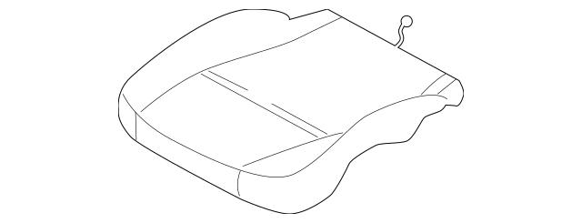 Porsche Seat Cushion Pad (996-521-571-00) For Sale