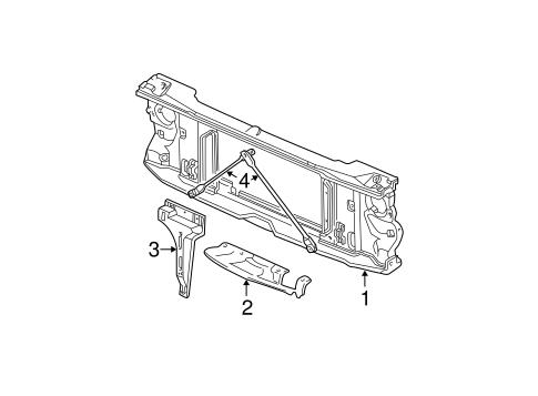 Radiator Support for 1995 Chevrolet K1500 Pickup