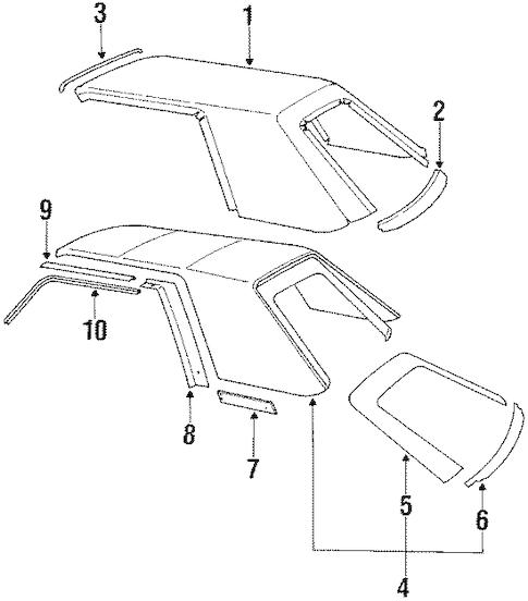 1984 Ford Mustang Ledningsdiagram