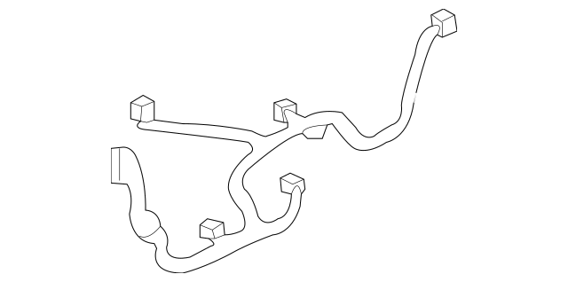 2006-2011 Honda CIVIC COUPE Wire Harness, Passenger Door