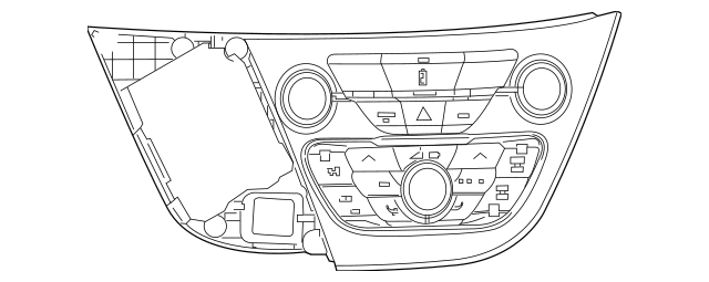 Genuine OEM 2017-2019 Chrysler Pacifica Control Assembly