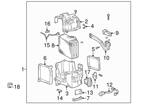 Evaporator Components for 2000 Toyota 4Runner