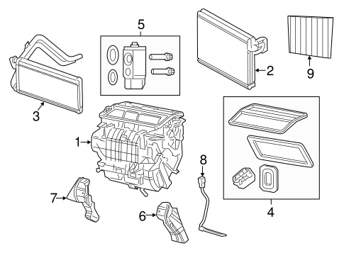 Evaporator & Heater Components for 2014 Jeep Compass