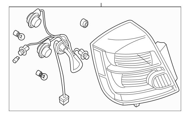 2010-2012 Nissan Sentra Combo Lamp Assembly 26550-ZT50A