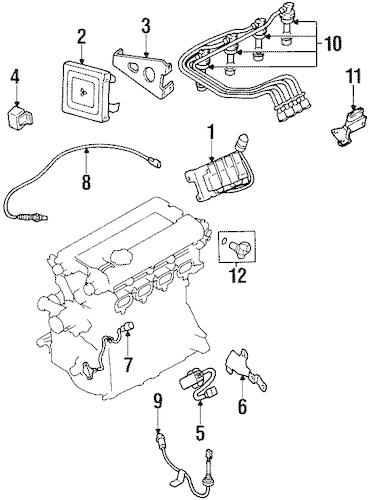 IGNITION SYSTEM for 1999 Mitsubishi Eclipse
