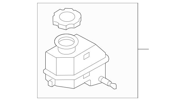 2010-2016 Hyundai Genesis Coupe Master Cylinder Reservoir