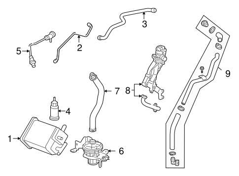 Emission Components for 2008 Chevrolet Impala
