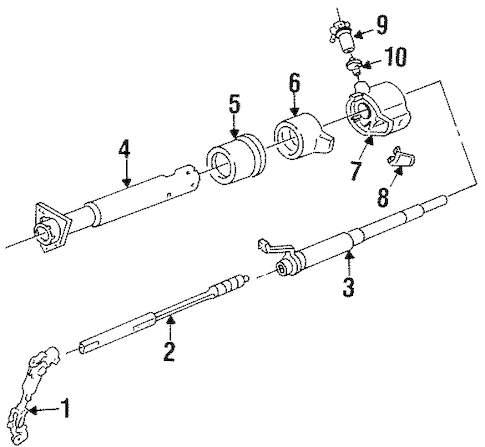 Steering Column Assembly for 1995 Chevrolet P30