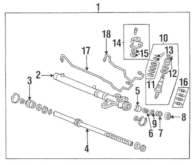 1988-2012 Honda Spring, Rack Guide Pressure 53413-SD4-951