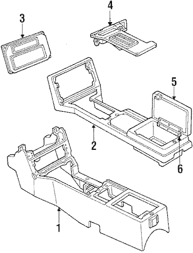 FLOOR CONSOLE for 1984 Pontiac Firebird (Trans Am)