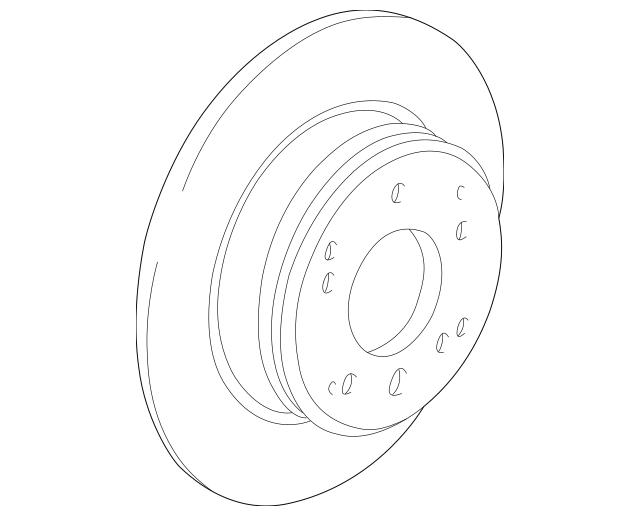 2002-2004 Acura RL SEDAN Disk, Rear Brake Drum In 42510