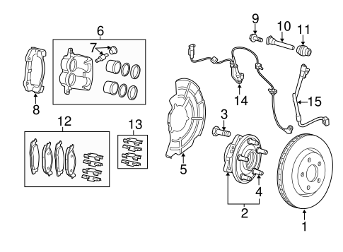 BRAKE COMPONENTS for 2011 Jeep Grand Cherokee