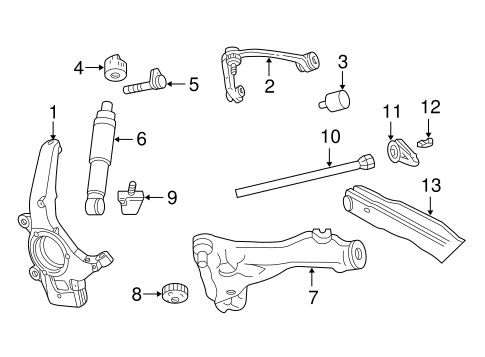 SUSPENSION COMPONENTS for 2002 Ford Expedition