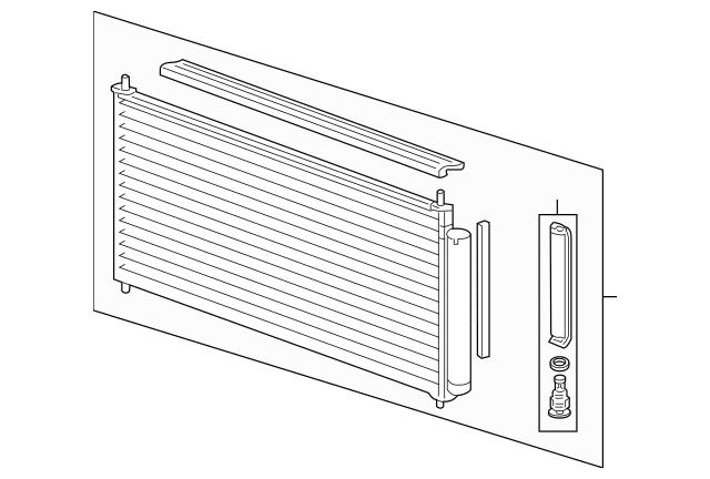 2010-2014 Honda INSIGHT Condenser Sub-Assembly 80110-TM8