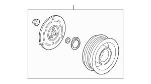 2011-2015 Honda Clutch Set, Compressor 38900-RBJ-036