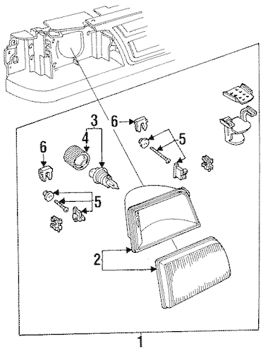 Headlamp Components for 1996 Ford Ranger