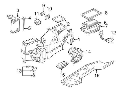 Evaporator & Heater Components for 2001 Volkswagen Jetta