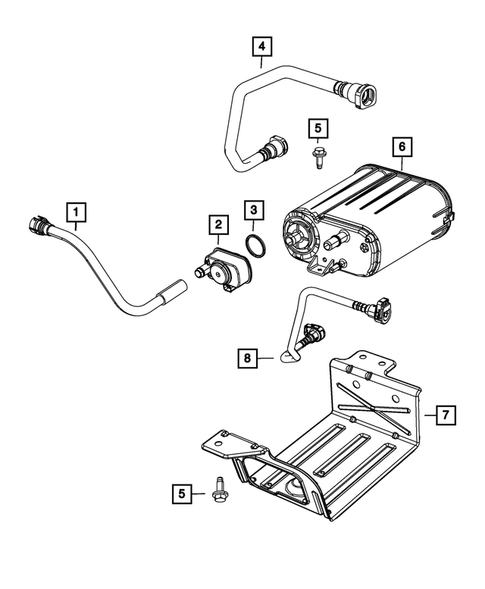 Vacuum Canister/Leak Detection Pump for 2011 Jeep Wrangler