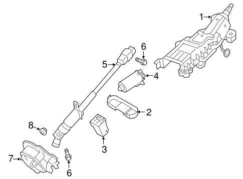 Steering Column Components for 2010 Lincoln MKS