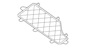 2005-2018 Nissan Frontier Storage Box Guard 84935-EA160