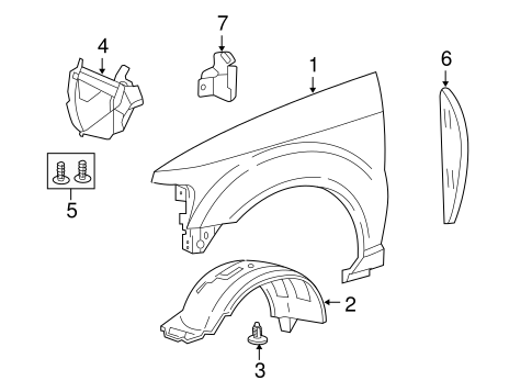 Fender & Components for 2008 Ford Explorer Sport Trac