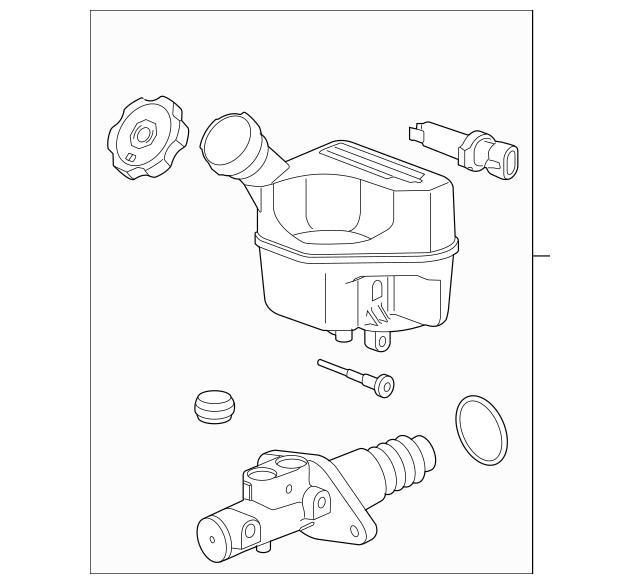 2006-2008 Chevrolet HHR Master Cylinder 15939484