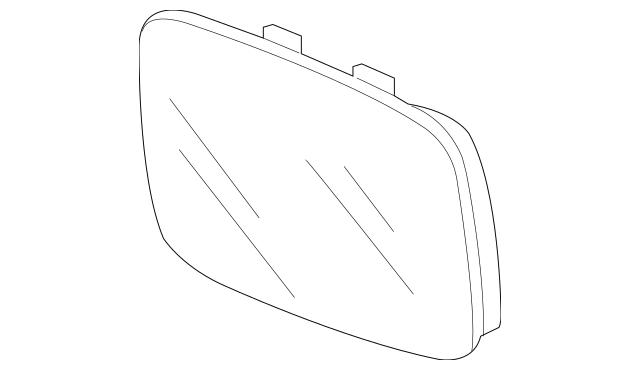 2009-2014 Acura TL SEDAN Mirror Sub-Assembly, R (R1400