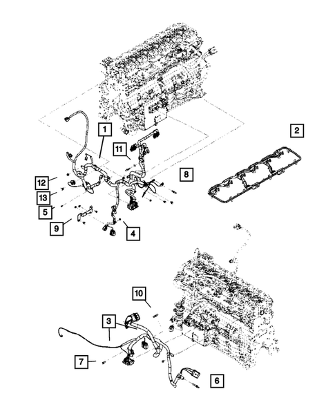 Wiring-Engine & Related Parts for 2007 Dodge Ram 2500