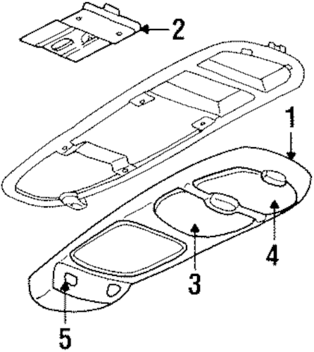 OEM OVERHEAD CONSOLE for 2002 Oldsmobile Silhouette
