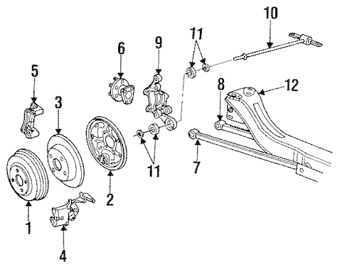 REAR SUSPENSION 1995 Saturn SW1 OEM
