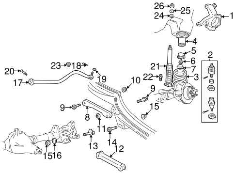 Suspension Components for 2003 Jeep Wrangler Parts