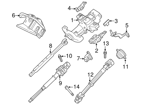 Steering Column Assembly for 2010 Ford Expedition