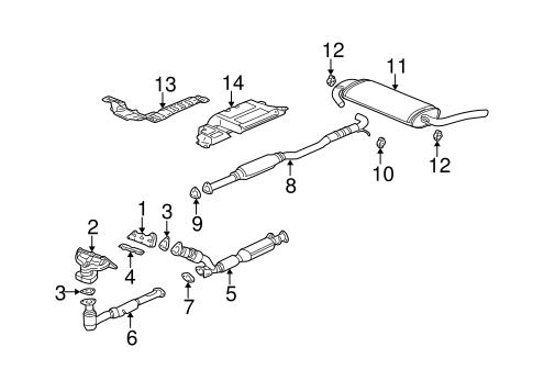 Exhaust Components 2003 Saturn Vue OEM