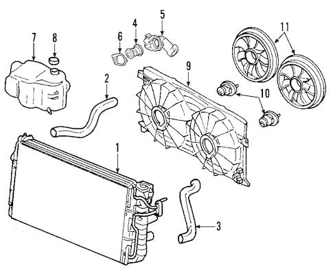 OEM 2013 Chevrolet Traverse Radiator & Components Parts