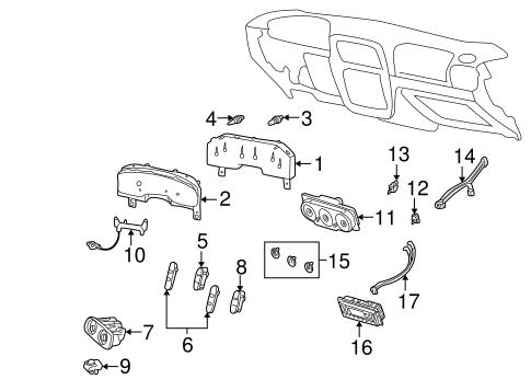OEM 2002 Mercury Mountaineer Controls Parts