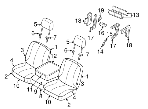 FRONT SEAT COMPONENTS for 2005 Dodge Ram 2500