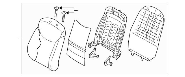 2011-2012 Hyundai Elantra Seat Back Assembly 88400-3Y620