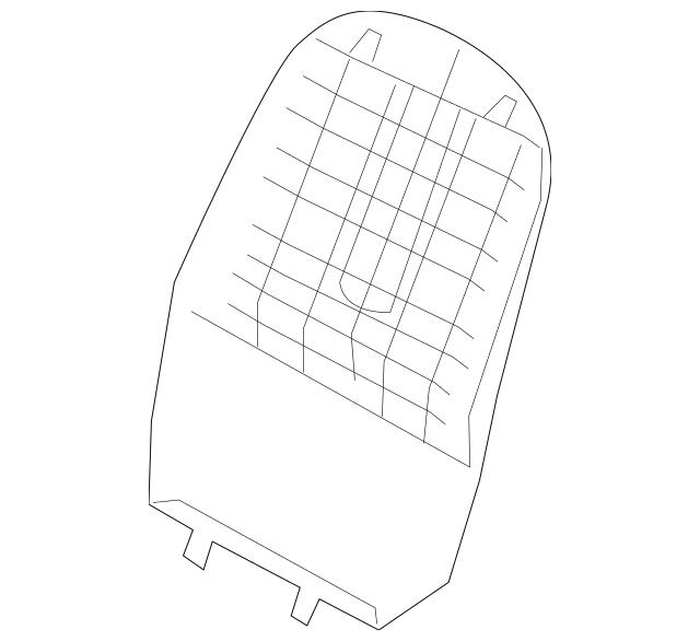 2011-2012 Hyundai Elantra Seat Back Panel 88491-3Y000-HZ