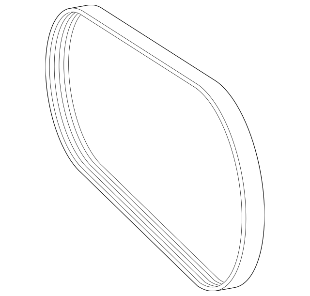 2012-2016 Mercedes-Benz SLK 55 AMG® Serpentine Belt 002