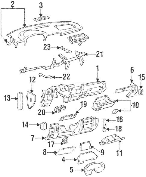 OEM 1996 Chevrolet Impala Instrument Panel Parts