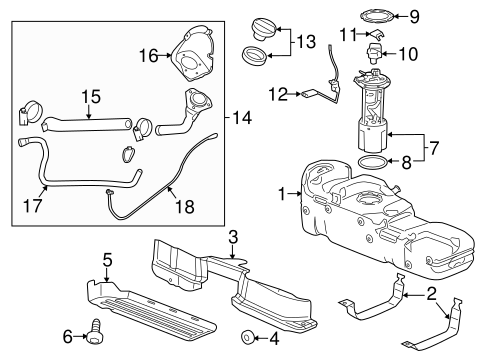 Fuel System Components for 2015 Chevrolet Silverado 3500