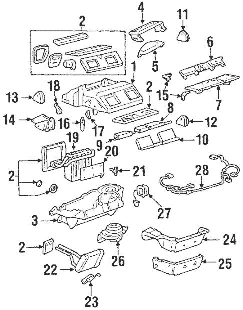 OEM 2001 Oldsmobile Aurora Blower Motor & Fan Parts