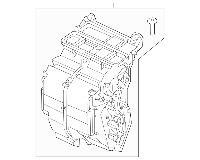 Genuine 2015-2017 Honda FIT 5-DOOR Heater Sub-Assembly