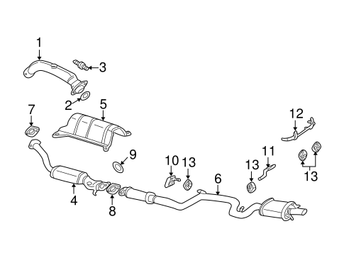 OEM EXHAUST COMPONENTS for 2005 Chevrolet Impala