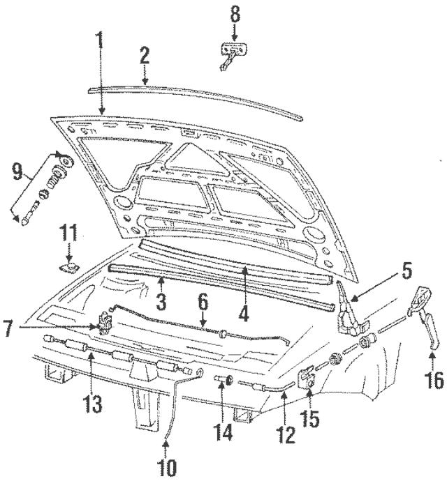 1990-2010 Volkswagen Release Cable Clip 191-823-567