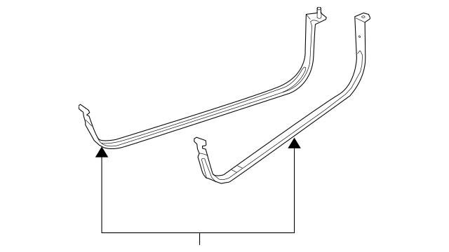 Genuine OEM 2010-2013 Ford Transit Connect Fuel Tank Strap
