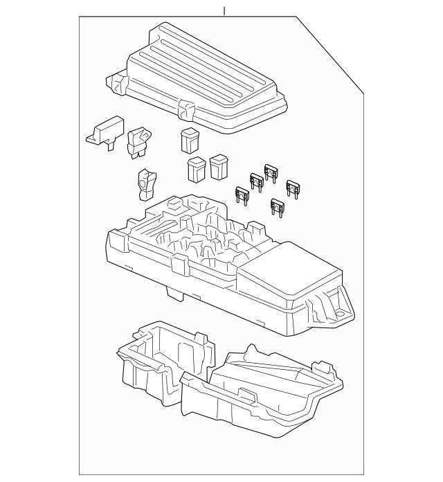 2004-2006 Acura TL SEDAN Box Assembly, Relay 38250-SEP-A01