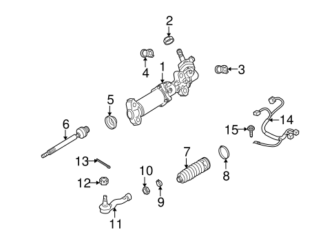 Steering Gear & Linkage for 2004 Mazda RX-8